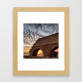 Roman Aqueduct at Sunset Framed Art Print