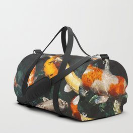 Geometric Koi Fishes Duffle Bag