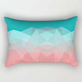 Crystal fantasy background mint and coral color Rectangular Pillow