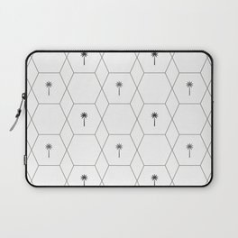 Hexagon Palms - Black and White Laptop Sleeve