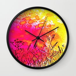 Pink orange fantasy Wall Clock
