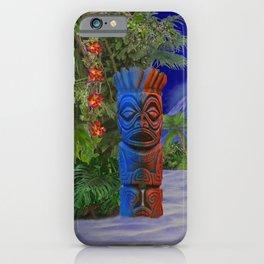 Tiki Art Background iPhone Case