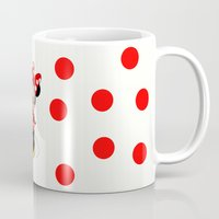 minnie mouse Mugs featuring Cute Minnie Mouse by Yuliya L