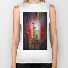 Statue of Liberty Biker Tank