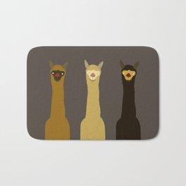 Triple LLAMAS ALPACAS CAMELS - Dark Bath Mat
