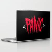 panic at the disco Laptop & iPad Skins featuring PANIC by Chris Piascik