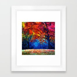 Tardis Tree Art Blossom Framed Art Print