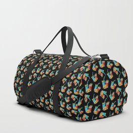 Fun Fast Food (seamless pattern in black) Duffle Bag