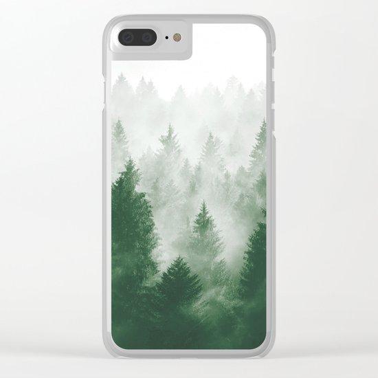 Foggy Woods III Clear iPhone Case