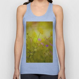 Wild flowers in the golden sunset shades Unisex Tank Top
