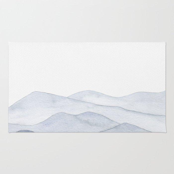 Watercolor Mountains Rug