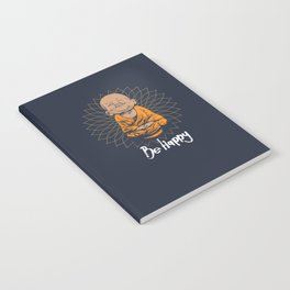 Be Happy Little Buddha Notebook