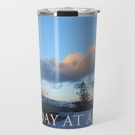 One Day at a Time Rooftop, Hills, and Trees Travel Mug