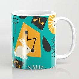 Mid-century pattern with bunnies Coffee Mug