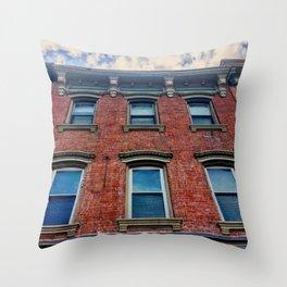 Looking Up on Main Street - Beacon NY Throw Pillow