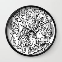 family Wall Clocks featuring family by ybalasiano