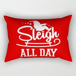 Sleigh All Day Funny Santa Claus Christmas Holiday Rectangular Pillow
