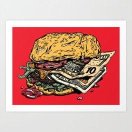 Burger Wage Art Print