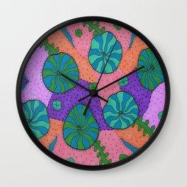 Retro Sea Garden Wall Clock
