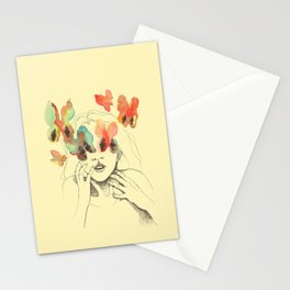Butterfly eyes Stationery Cards