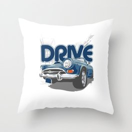 Racing Auto Automobile Automotive Racers Gift Life Is Too Short To Drive Cars Throw Pillow
