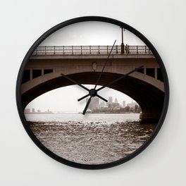 Two Bridges, Belle Isle Detroit Wall Clock