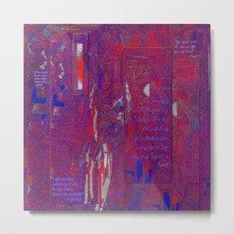 Dreams of Persia with Rumi Healing Words Metal Print