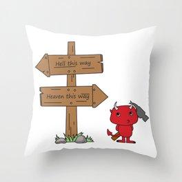 That little devil Throw Pillow