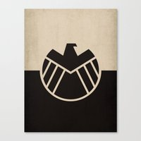 agents of shield Canvas Prints featuring Agents fo Shield by The Retro Inc