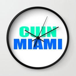 CUIN MIAMI Wall Clock
