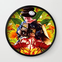 Geisha Photographer Wall Clock