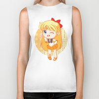 sailor venus Biker Tanks featuring Sailor Venus by strawberryquiche