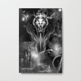 Thera Queen Of The Galaxy DGS Fractal Art Sci-Fi Portrait Metal Print
