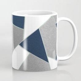 Navy Blue Gray White Mint Geometric Glam #1 #geo #decor #art #society6 Coffee Mug