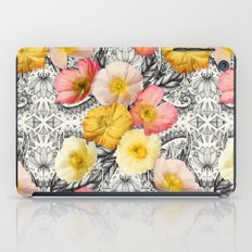 Collage of Poppies and Pattern iPad Case