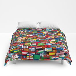 Flags of all countries of the world Comforters
