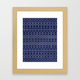 N111 - Jean Fabric, Farmhouse & Rustic Traditional Moroccan Style Artwork. Framed Art Print