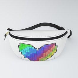 Rainbow Pixel Heart Fanny Pack