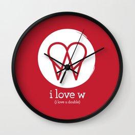 I Love W Wall Clock