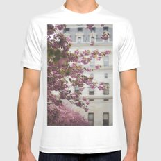 City Hall Courtyard MEDIUM White Mens Fitted Tee
