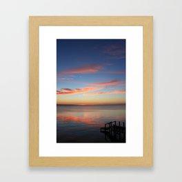 Sunset Over the Sound Framed Art Print