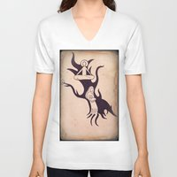 mother V-neck T-shirts featuring Mother by Gerard Marinaccio