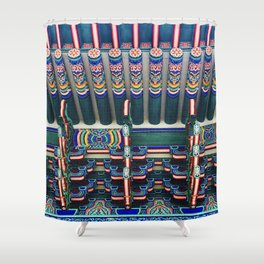 Gyenbokgung detailing Shower Curtain
