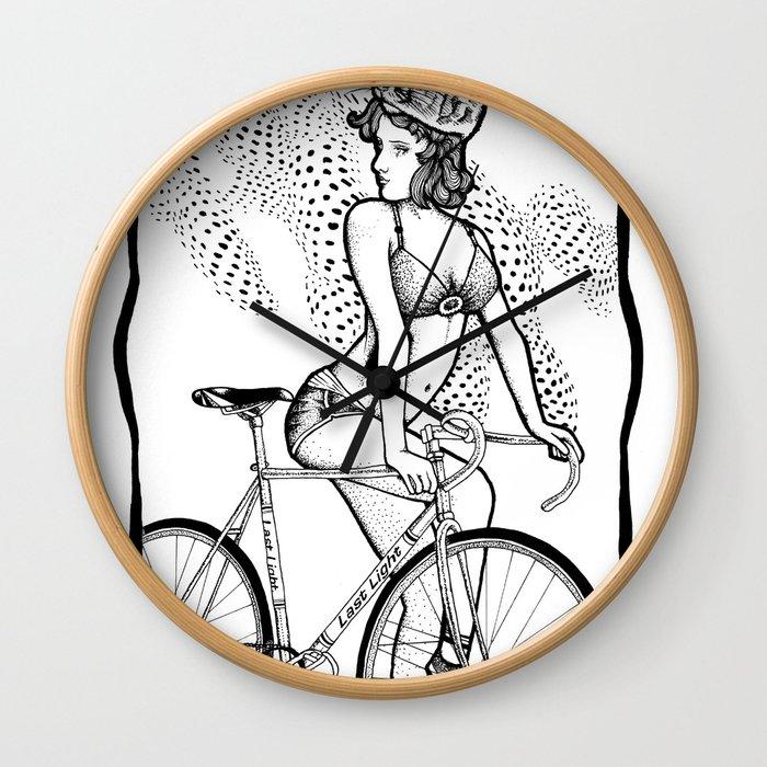 """Bicycle Race""  Wall Clock"
