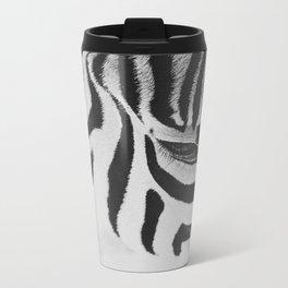 Black & White Metal Travel Mug