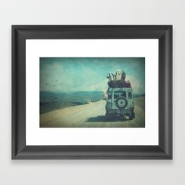 NEVER STOP EXPLORING II SOUTH AMERICA Framed Art Print
