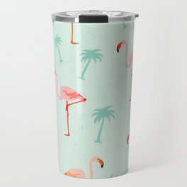 Vintage Flamingos Travel Mug