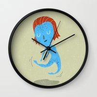 nightcrawler Wall Clocks featuring Mystique by Rod Perich