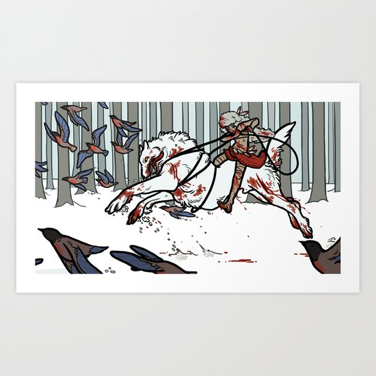 The Wolf Tamer Art Print