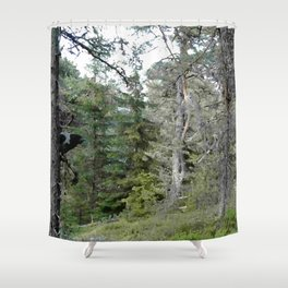Crow, the forest gate keeper Shower Curtain